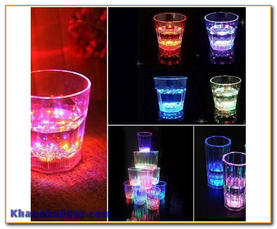 لیوان کریستال چراغدار