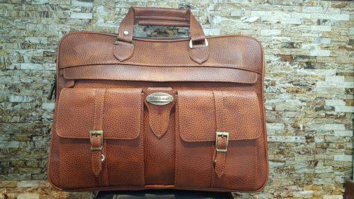 کیف چرمی مدیریتی دیپلمات با جیب خارجی
