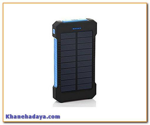 پاوربانک خورشیدی GRDE Solar Charger Dual USB 8000mah